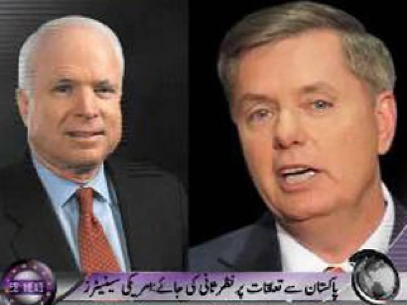 امریکا کو پاکستان کے ساتھ تعلقات پرمکمل نظر ثانی اوراسے دی جانے والی امدادکاازسرنوجائزہ لینا چاہیے۔ امریکی سینیٹرز