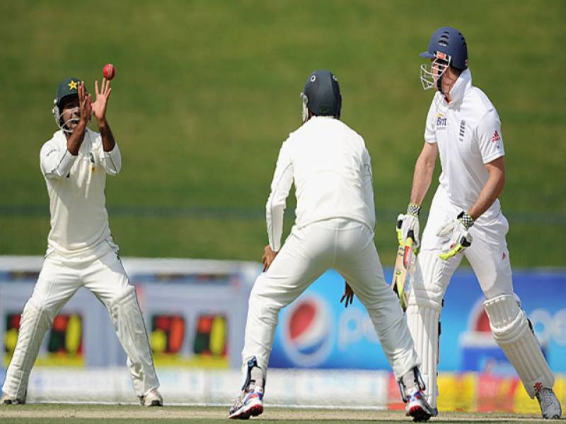 پاکستانی ٹیم انگلینڈ کے خلاف دوسرے ٹیسٹ میچ کے دوسرے روزدوسو ستاون رنزبناکرآؤٹ، انگلینڈ کی پہلی اننگزمیں بیٹنگ جاری ۔
