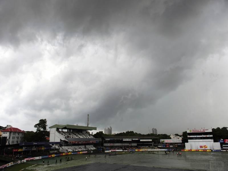 پاکستان اور سری لنکا کے درمیان دوسرا ٹیسٹ کے چوتھے روز بارش کے باعث کھیل روک دیاگیا۔