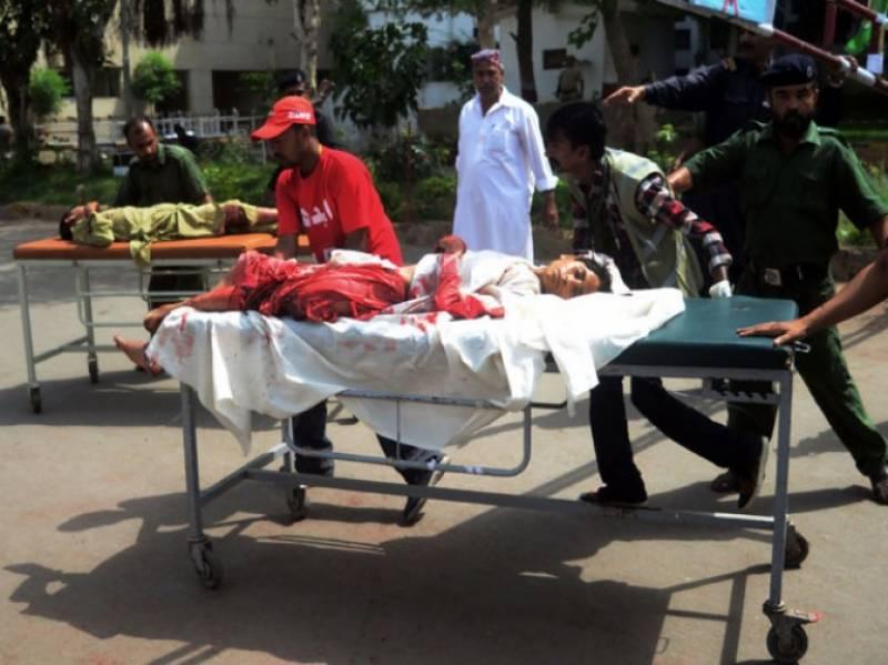 کراچی:  علاقے لانڈھی میں دو دھماکوں میں 11 فراد جاں بحق اور 20 سے زخمی.