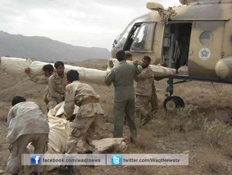 آئی ایس پی آر کے مطابق پاک فوج کازلزلے سے متاثرہ  علاقوں میں ریلیف آپریشن جاری ہے