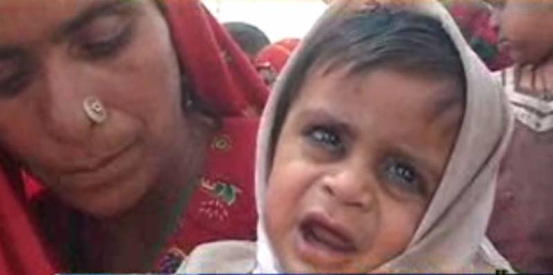 صحرائے تھر میں غذائی قلت کا شکار مزید ایک بچہ چل بس