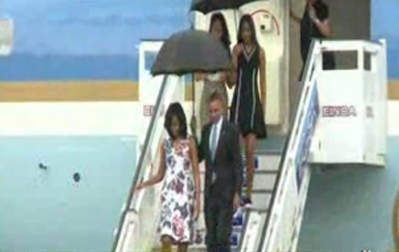امریکی صدربراک اوباما کیوبا کےدارالحکومت ہواناپہنچ گئےہیں