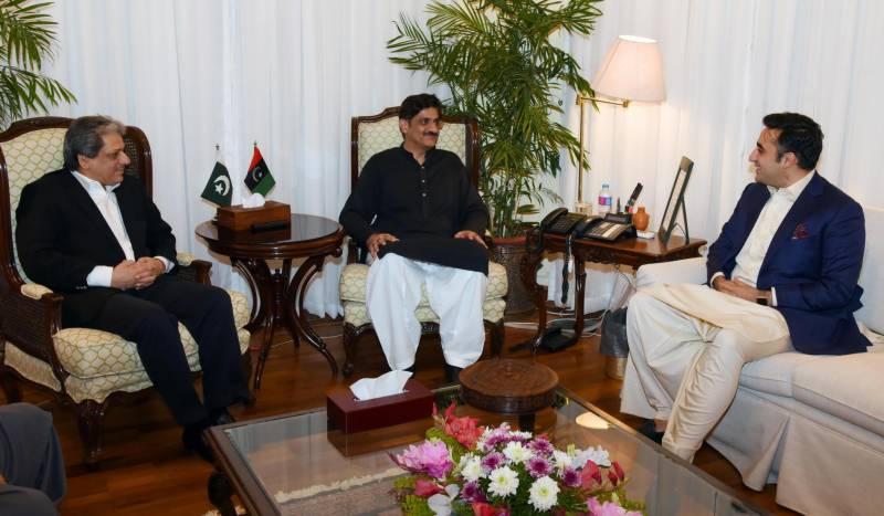 پاکستان پيپلز پارٹی کے چئيرمين بلاول بھٹو کی گورنرووزیراعلیٰ سندھ  سے ملاقات