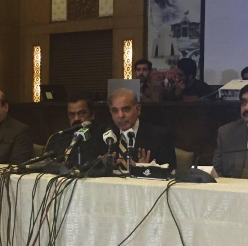 لاہوردھماکے میں ملوث دہشت گرد پکڑلئےدہشتگردوں کےافغانستان میں نیٹ ورک کا بھی پتہ چلالیا, فوجی عدالتوں کے قیام میں توسیع کی حمایت کرتے ہیں,وزیراعلیٰ پنجاب شہباز شریف