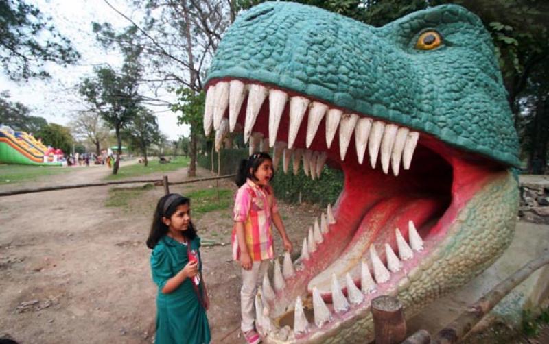 اتوار کے روز چھٹی سے لطف اندوز ہونے اسلام آباد کے باسیوں کی بڑی تعداد نے چڑیا گھرکا رخ کیا،