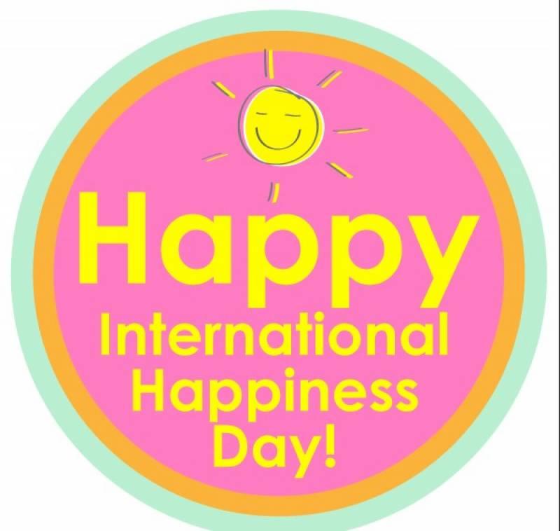 آج دنیا بھر میں خوشی کا دن منایا جا رہا ہے