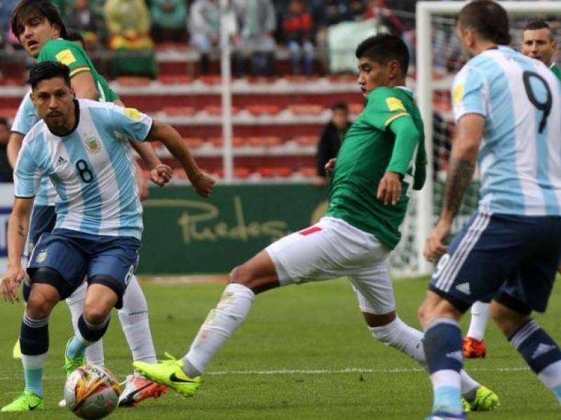فیفا ورلڈ کپ 2018 کے کوالیفائر مقابلے میں بولیویا نے ارجنٹائن کو صفر کے مقابلے میں دو گول سے شکست دے دی