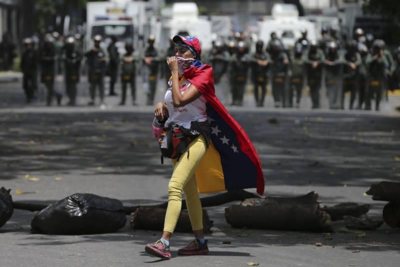 وینزویلا میں ملکی صدر کے خلاف پُر تشدد احتجاج کا سلسہ جاری