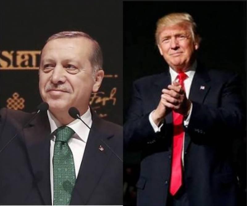 ترک صدر رجب طیب اردوان نے وائٹ ہاؤس میں امریکی ہم منصب ڈونلڈ ٹرمپ سے ملاقات کی