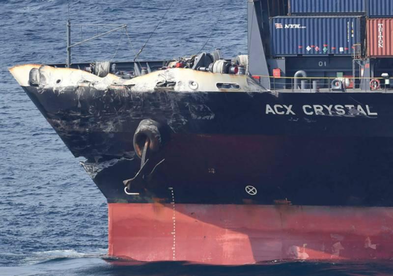 امریکی فوجی بحری جہاز اور جاپانی کنٹینر جہاز میں تصادم