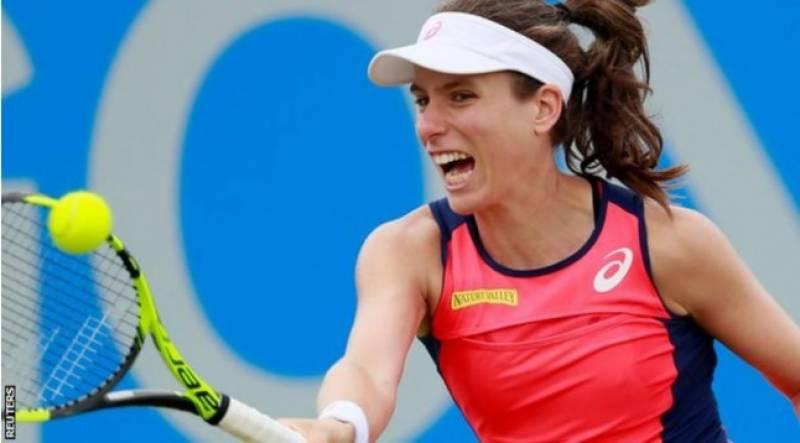 برطانیہ کی جوآنا کونٹا نوٹنگھم اوپن ٹینس ٹورنامنٹ میں سلوویکیا کی میگڈالینا رائبریکووا کو شکست دیکر ایونٹ کے فائنل میں پہنچ گئیں۔