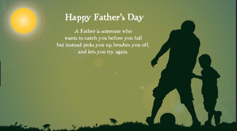 آج دنیا بھرمیں باپ سے محبت کےاظہار کا دن منایاجارہا ہے۔۔