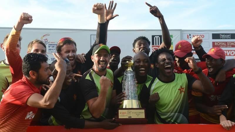 زمبابوے نے سری لنکا کے خلاف ون ڈے سیریز جیت لی