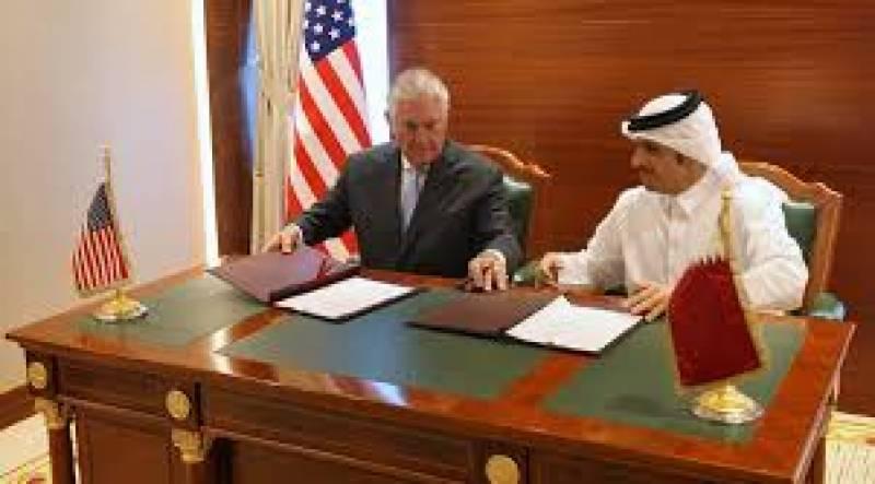 امریکہ اور قطر کے درمیان دہشت گردی سے نمٹنے اور اس کے مالی وسائل کی روک تھام سے متعلق ایک اہم معاہدے پر دستخط ہوئے ہیں