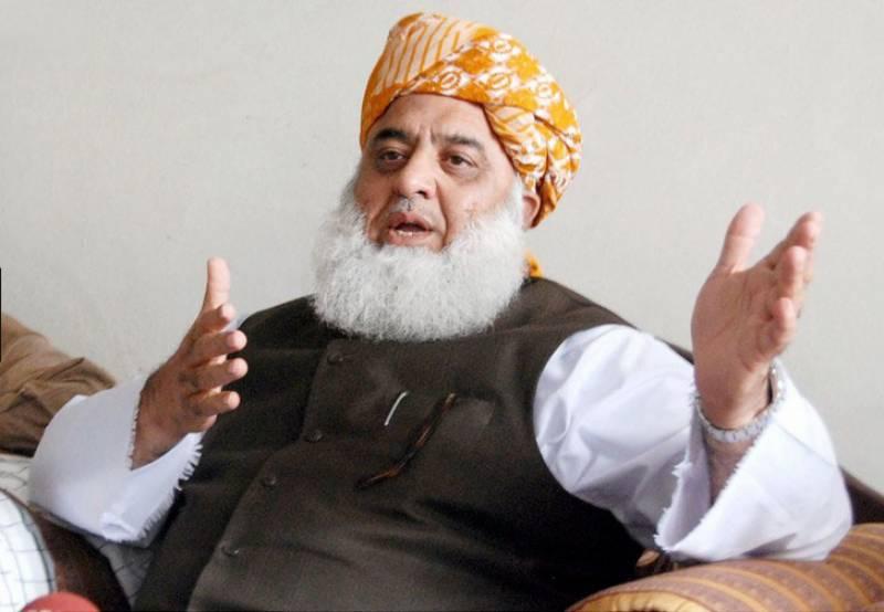 نوازشریف کوسزا دینا سیاسی عدم استحکام پیدا کرنے کی سازش ہے۔ مولانا فضل الرحمان