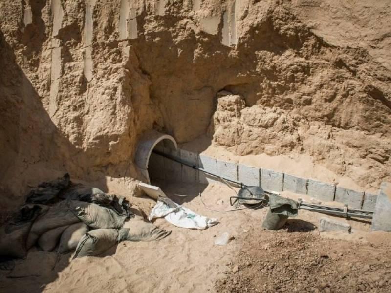 زیر زمین دیوار حماس کے سرنگ حملوں سے تحفظ دے گی۔ صیہونی حکام