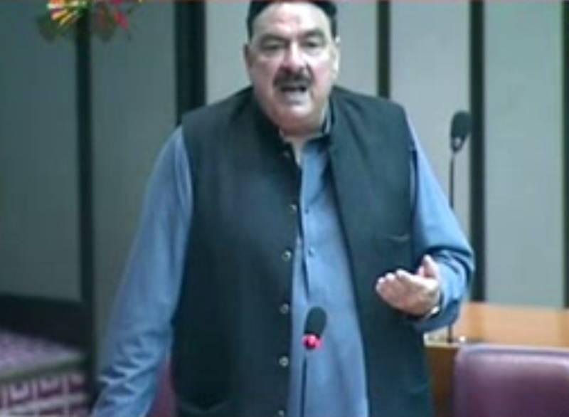 قومی اسمبلی کے اجلاس میں عوامی مسلم لیگ کے سربراہ شیخ رشید کا