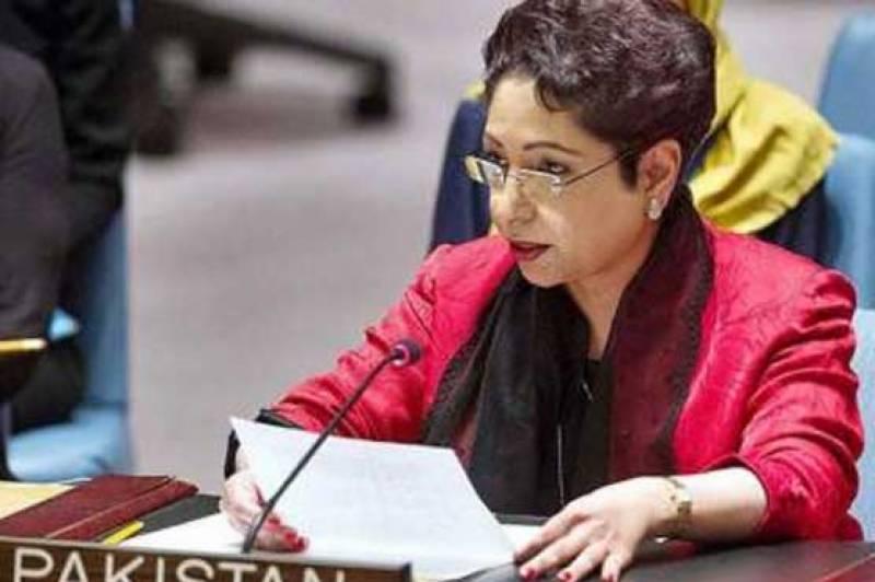 اقوام متحدہ میں پاکستان کی مستقل مندوبہ کا سلامتی کونسل میں اظہار خیال
