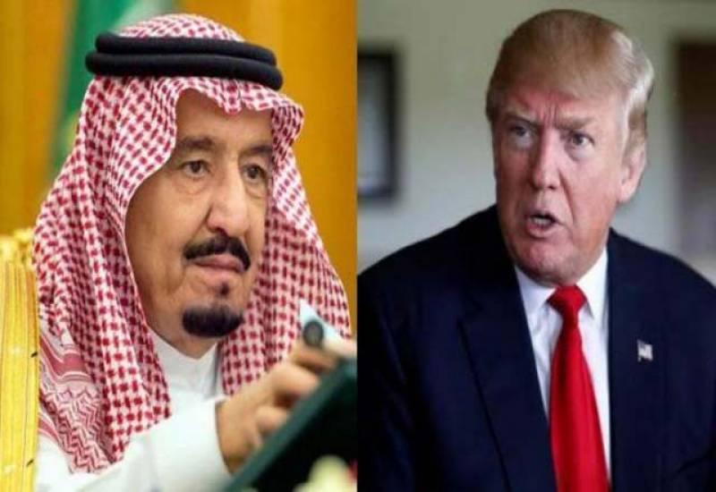 قطر تنازعہ حل کرنے کےلئے ٹرمپ کا شاہ سلمان کو فون