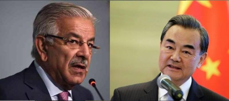 وزیر خارجہ خواجہ آصف نے بیجنگ میں اپنے چینی ہم منصب سے اہم ملاقات کی