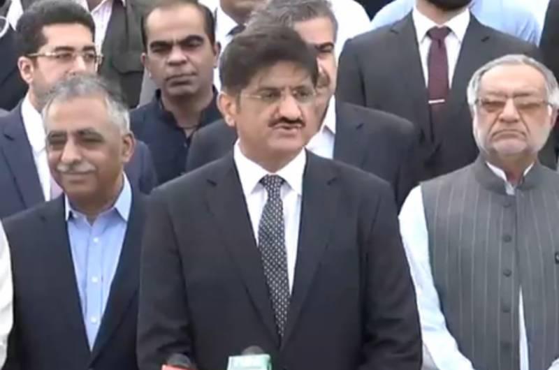 وزیراعلیٰ اورگورنر سندھ کی مزار قائد پر کابینہ کے اراکین کے ہمراہ حاضری