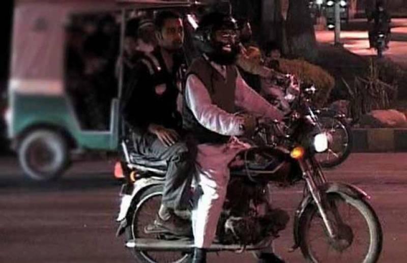 محرم الحرام میں موٹر سائیکل پر ڈبل سواری  پر پابندی عائد کردی گئی۔