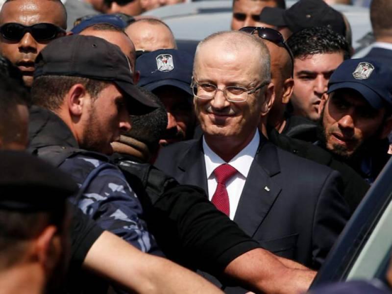 فلسطین کے وزیراعظم رامی حمد اللہ غزہ پہنچ گیا۔