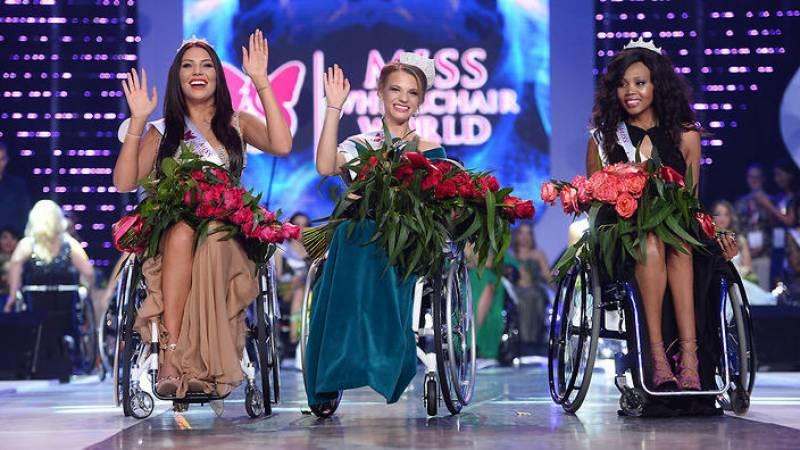 مس وہیل چیئر ورلڈ مقابلہ بیلاروس کی ایک لڑکی نے جیت لیا،مقابلے کا مقصد معذوروں سے متعلق عمومی سوچ کو تبدیل کرنا تھا