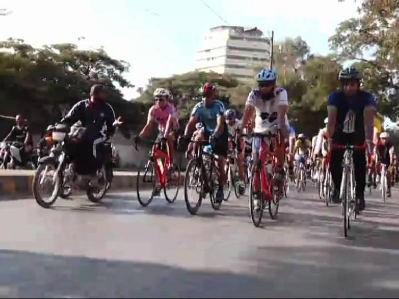 مزار قائد سے منشیات کے خلاف سائیکل ریس کا انعقاد کیا گیا،