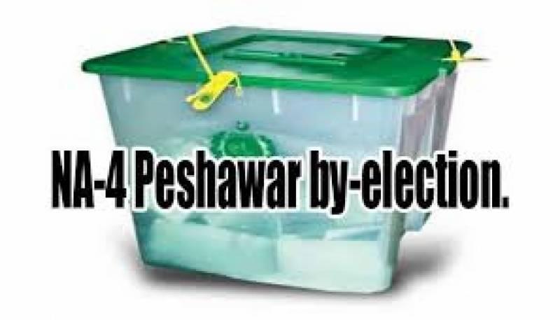 این اے چار پشاور کے ضمنی انتخاب کیلئے پولنگ کا عمل جاری ہے