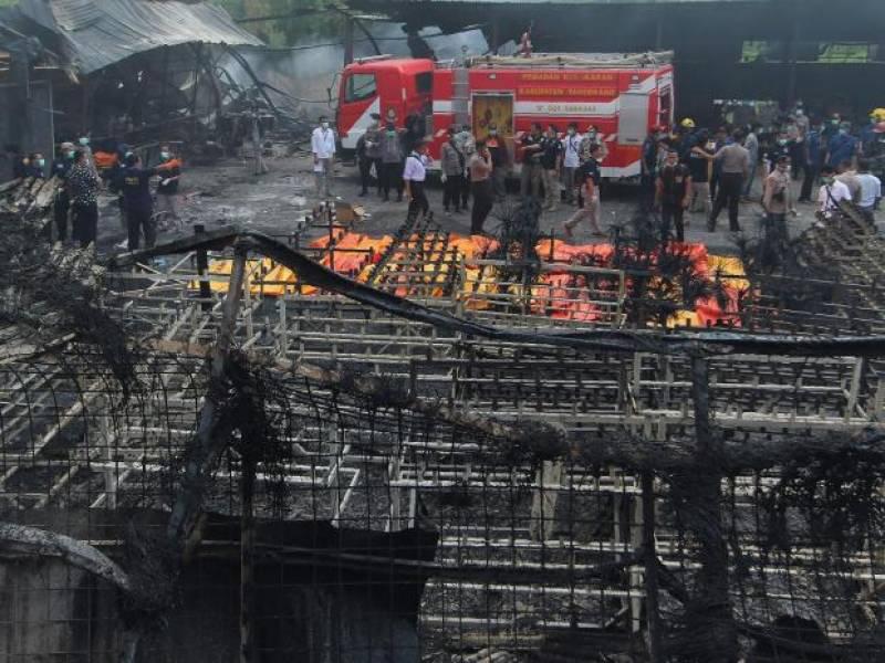 انڈونیشیا میں آتش بازی کا سامان بنانے والی فیکٹری میں دھماکے کے نتیجے میں 47 افراد ہلاک اوردرجنوں زخمی