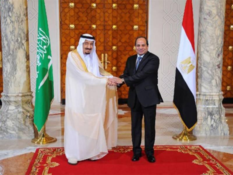 شاہ سلمان کا مصری صدرسے ٹیلیفون پر رابطہ، دہشت گردی کے خلاف تعاون پر تبادلہ خیال