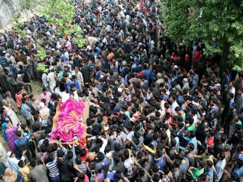 بھارتی فوج نےجعلی آپریشن کے نام پر 3 بے گناہ نہتے کشمیرینوجوان شہید کردیئے۔