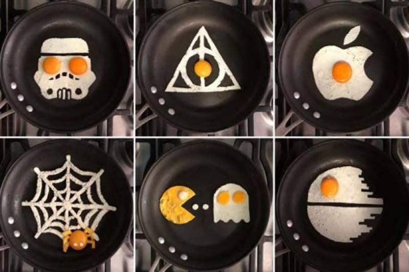 ماہر شیف نے انڈے کو آرٹ میں بدل دیا