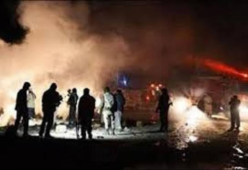 کوئٹہ میں گزشتہ روز جی پی او چوک پر ہونے والے خودکش دھماکے کے بعد فضا سوگوار ہے