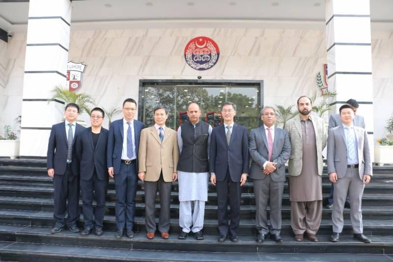 چائنیز امبیسیڈر یاؤ جنگ اور چائنیز کونسل جنرل لاہور لونگ ڈنگ کا پنجاب سیف سٹیز اتھارٹی کا دورہ