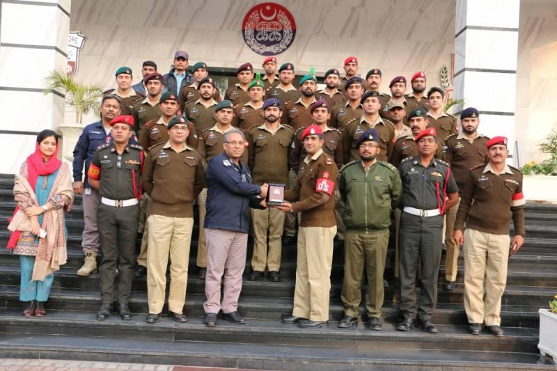 2سری لنکن،1بنگلہ دیشی سمیت 24 ملٹری پولیس افسران کا پنجاب سیف سٹیز اتھارٹی ہیڈ آفس کا دورہ