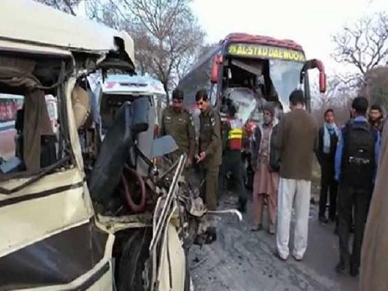 وزیرآباد:بس اور وین میں تصادم کے نتیجے خواتین اور بچوں سمیت 9 مسافر جاں بحق