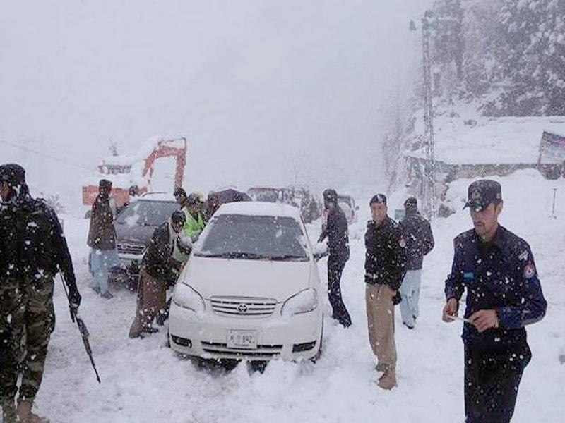 ملک کے شمالی علاقوں میں برفباری کا سلسلہ وقفے وقفے سے جاری