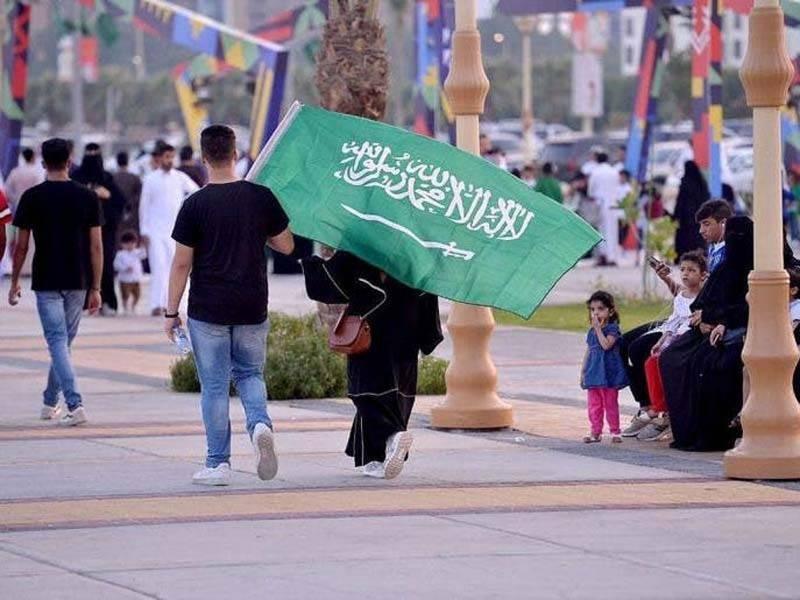 سعودی عرب کے 89 ویں قومی دن کے موقع پر مملکت کی فضائیہ کا ایک بڑے ایئر شو کا انعقاد