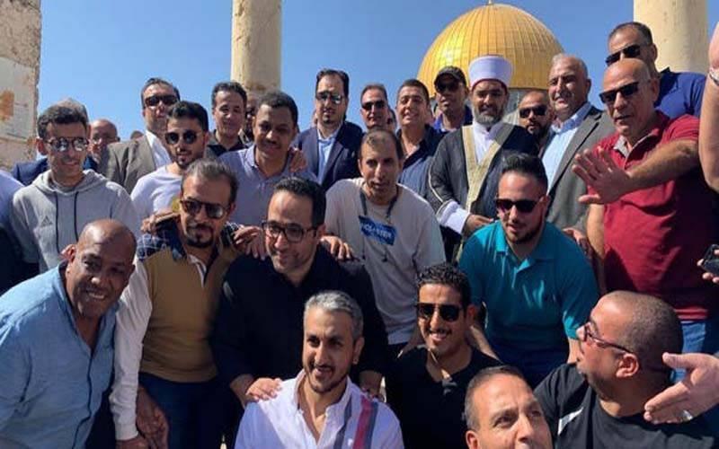 سعودی عرب کی فٹ بال ٹیم کی مسجد اقصیٰ میں حاضری