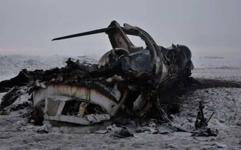 افغانستان میں امریکی فوجی طیارہ گرکر تباہ