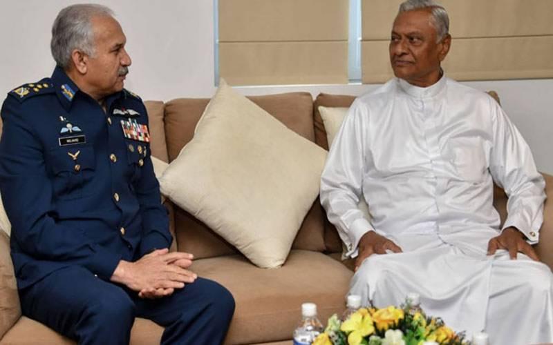 پاک فضائیہ کے سربراہ کی سری لنکن وزیر دفاع اور نیول چیف سے ملاقات