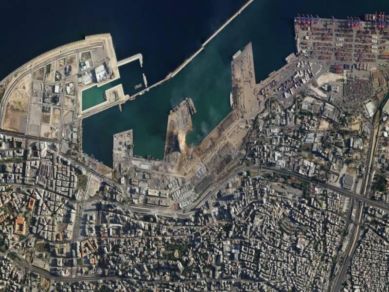 بیروت دھماکوں کے بعد سیٹلائٹ سے لی گئیں تصاویر جاری