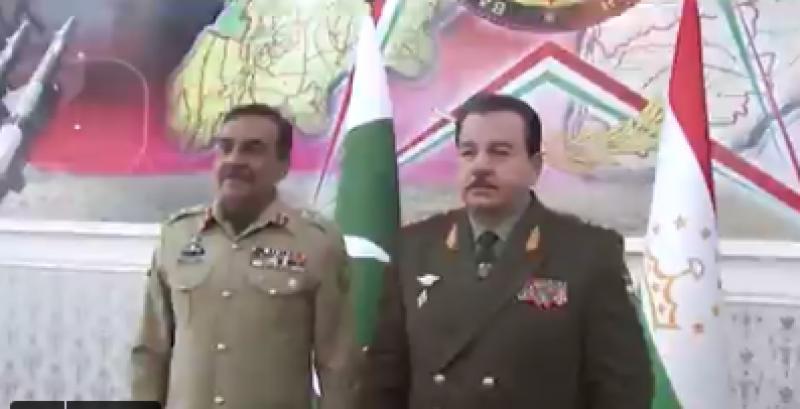 جنرل ندیم رضا کی تاجکستان کے صدر سمیت دیگر اعلیٰ سیاسی و عسکری قیادت سے ملاقاتیں