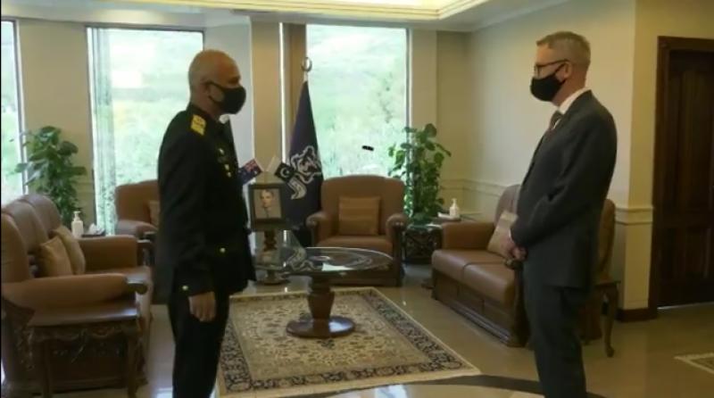 پاکستان میں تعینات آسٹریلین ہائی کمشنر کا نیول ہیڈکوارٹرز اسلام آباد کا دورہ