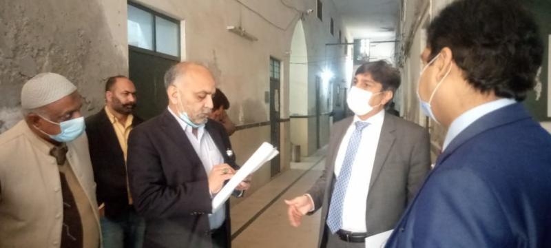 سیکرٹری ہائیر ایجوکیشن پنجاب کا ڈی پی آئی (کالجز) کے دفتر اور نئے ٹریننگ انسٹیٹیوٹ کی تعمیر کیلئے سائٹ کا دورہ
