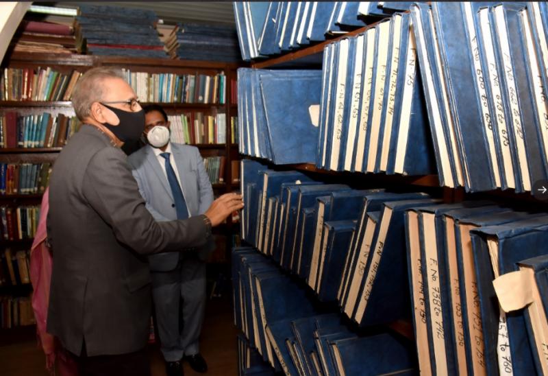 صدر مملکت ڈاکٹر عارف علوی کا قائد اعظم اکیڈمی، کراچی کا دورہ