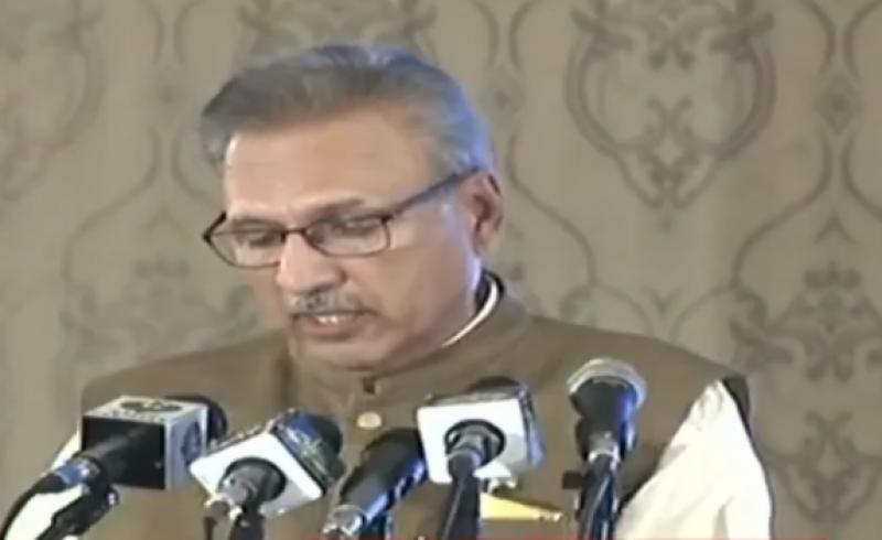 بھارت میں اقلیتوں کے خلاف قوا نین بنائے جا رہے ہیں:صدر ڈاکٹر عارف علوی